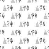 Drzewa w tło wzorze Fotografia Stock