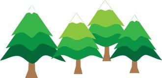 Drzewa w zima sezonie Obrazy Stock
