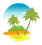 drzewka palmowe ilustracja wektor