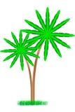 drzewka palmowe biały ilustracji
