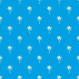 Drzewka palmowego deseniowy bezszwowy błękit Obrazy Stock