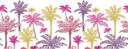 Drzewka palmowego horyzontalny bezszwowy deseniowy tło ilustracji