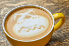 Drzewka palmowego latte sztuka Zdjęcie Royalty Free