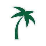 Drzewko palmowe ikona Natury i rośliny projekt gdy dekoracyjna tło grafika stylizował wektorowe zawijas fala Fotografia Stock