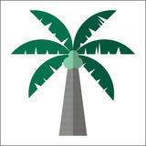 Drzewko palmowe ikony odosobniona wektorowa ilustracja Zdjęcie Stock