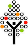 Drzewna ikona Fotografia Stock