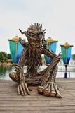 Drzewna mężczyzna lala przy parkowym PortAventura w HDR Zdjęcie Stock