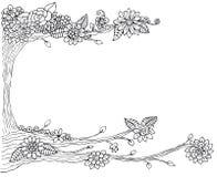 Drzewna rysunkowa rama Obraz Royalty Free
