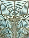 Drzewna struktura, Gare robi Oriente, Lisboa, Portugalia Calatrava Zdjęcia Royalty Free