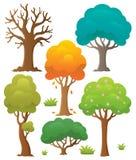 Drzewna temat kolekcja 2 Zdjęcie Royalty Free