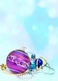 drzewne Boże Narodzenie dekoracje Obrazy Royalty Free