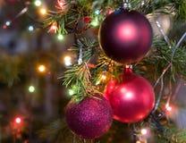 drzewne Boże Narodzenie dekoracje Obraz Royalty Free