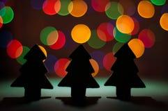 Drzewne cieni bożych narodzeń dekoracje Obrazy Royalty Free