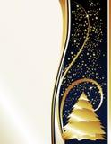 drzewne perełkowe złoto gwiazdy Obrazy Stock