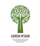 Drzewne robić ręki i liście Natury ekologia lub logo Ikona, symbol Obrazy Stock