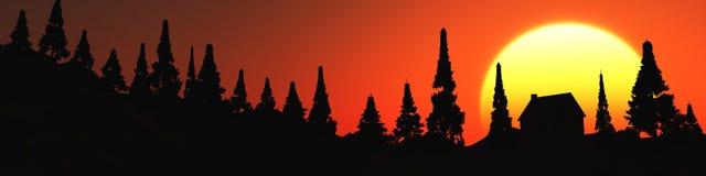 Drzewne sylwetki Zdjęcia Stock