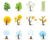 drzewnego ikona cztery sezonu Ilustracji