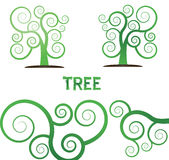Drzewnej ilustraci zieleni wektorowa roślina Fotografia Royalty Free