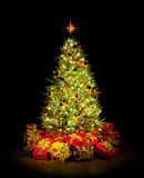 drzewni Boże Narodzenie prezenty obraz royalty free