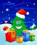 drzewni Boże Narodzenie prezenty Zdjęcie Stock