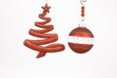 drzewni Boże Narodzenie ornamenty Obrazy Stock