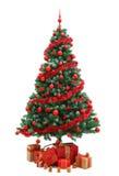 drzewni Boże Narodzenie prezenty Zdjęcia Royalty Free