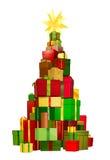 drzewni Boże Narodzenie prezenty Zdjęcie Royalty Free