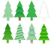 drzewni Boże Narodzenie projekty royalty ilustracja