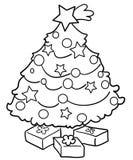 drzewni Boże Narodzenie prezenty Obrazy Royalty Free