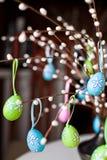 drzewni Easter jajka Zdjęcia Stock