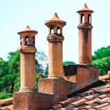 Drzewni handmade włoscy kominy obraz stock