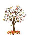 drzewni jesień abstrakcjonistyczni liść Zdjęcia Stock