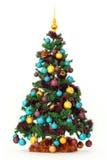 drzewni kolorowi Boże Narodzenie ornamenty zdjęcia royalty free