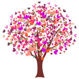 drzewni kolorowi serca Obrazy Royalty Free