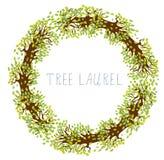 Drzewny bobek - round rama ilustracja wektor