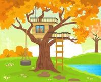 Drzewny dom Obraz Royalty Free