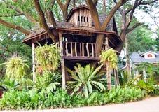 Drzewny dom w ogródzie Obraz Stock