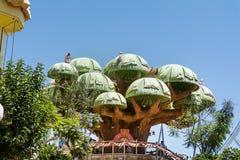 Drzewny dom w Sesamoaventura, PortAventura Zdjęcia Stock