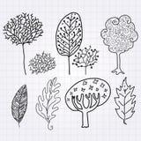 Drzewny doodle ilustracji