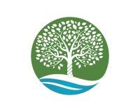 Drzewny ikona loga szablon royalty ilustracja