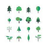 Drzewny ikona set Obrazy Royalty Free