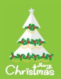 Drzewny kartki bożonarodzeniowa vecter Zdjęcia Royalty Free