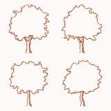 Drzewny kontur royalty ilustracja