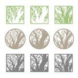 Drzewny loga szablonu set Zdjęcie Stock