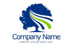 Drzewny logo Fotografia Royalty Free