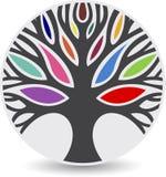 Drzewny logo ilustracja wektor