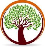 Drzewny okręgu logo ilustracja wektor