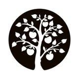 Drzewny sylwetka logo Zdjęcia Stock