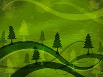 Drzewny tło Wskazuje natur łąki I tło royalty ilustracja