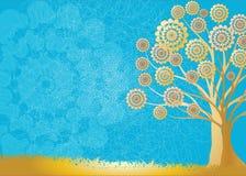 Drzewny Złocisty abstrakt Fotografia Royalty Free
